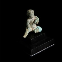 Roman Bronze Statuette of Cupid