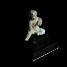 Roman Bronze Statuette of Cupid