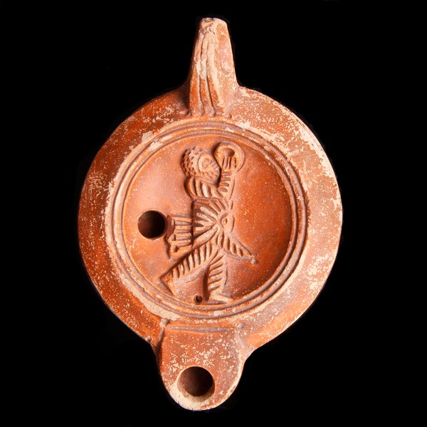Roman Oil Lamp with Maker's Mark