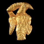 Scythian Gold Applique in the Shape of a Bird