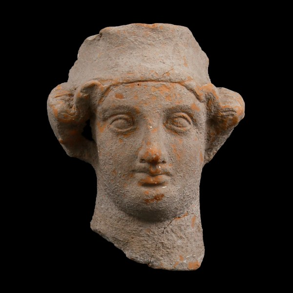 Ancient Greek Terracotta Head from Taranto
