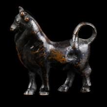 Roman Bronze Statuette of a Bull