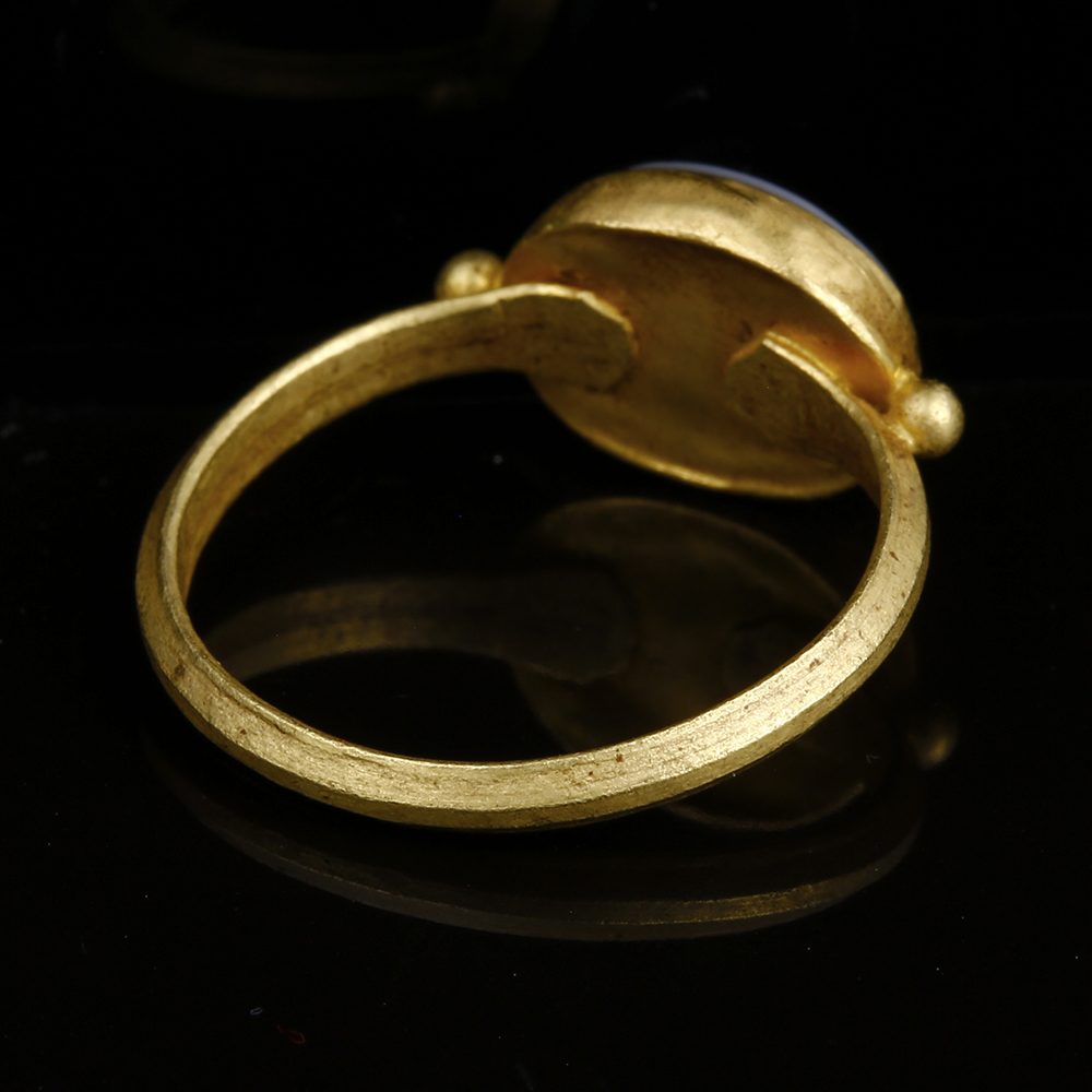 Ancient Roman Rings roman gold nicolo intaglio ring