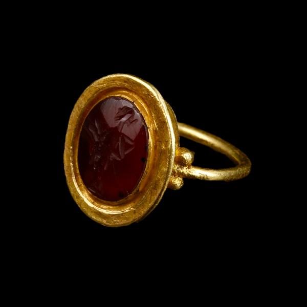 Roman Garnet Intaglio Ring