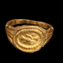 Roman Gold Wedding Ring