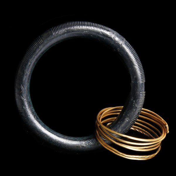 Bronze Age Bangle with Gold Coil