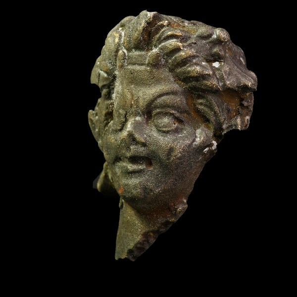 Roman Silver Head of a Satyr
