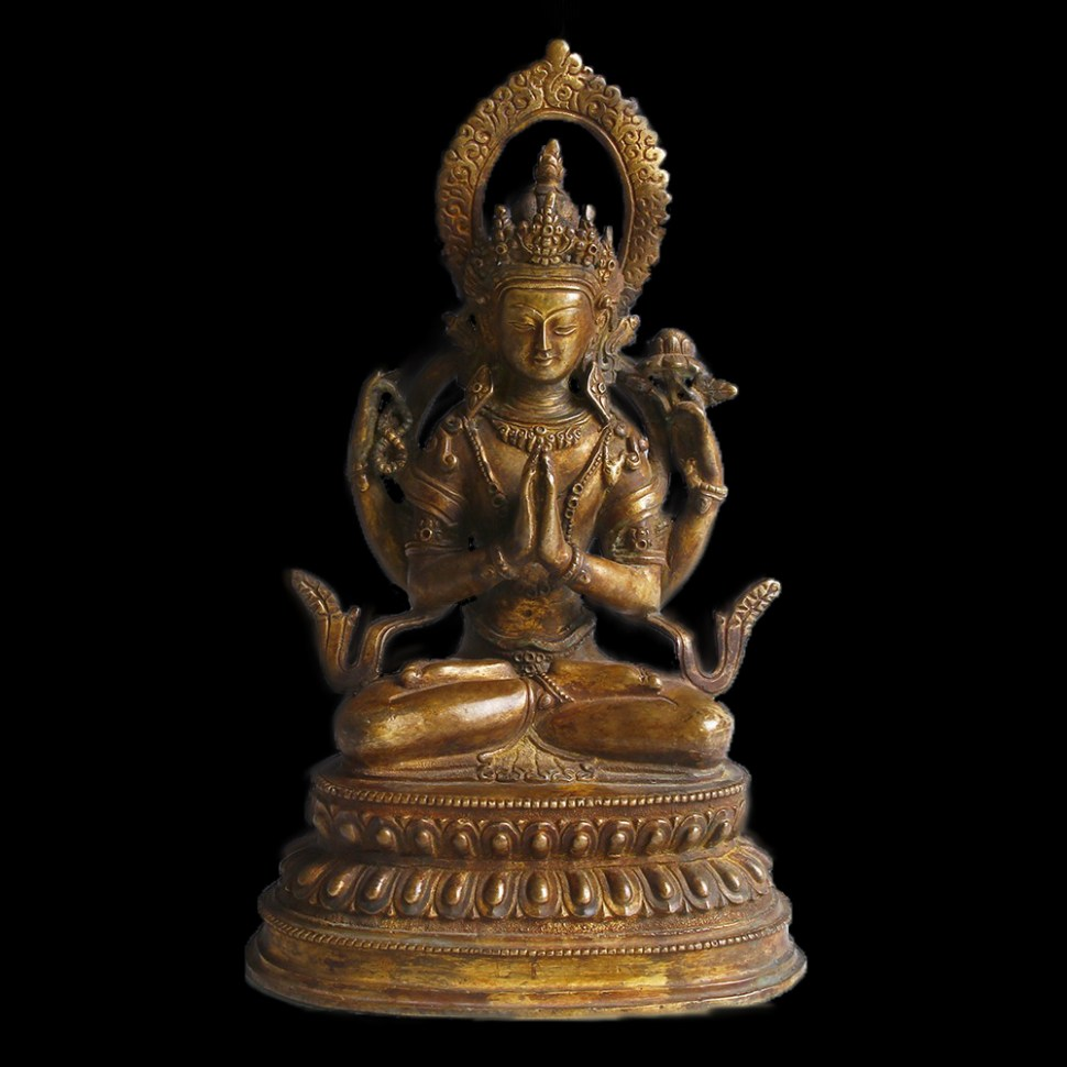 bronze-statue-of-buddha-in-lotus-position-1