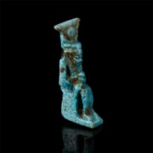 Egyptian Faience Isis and Horus Amulet
