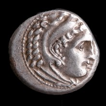 Alexander the Great Silver Drachm with Zeus