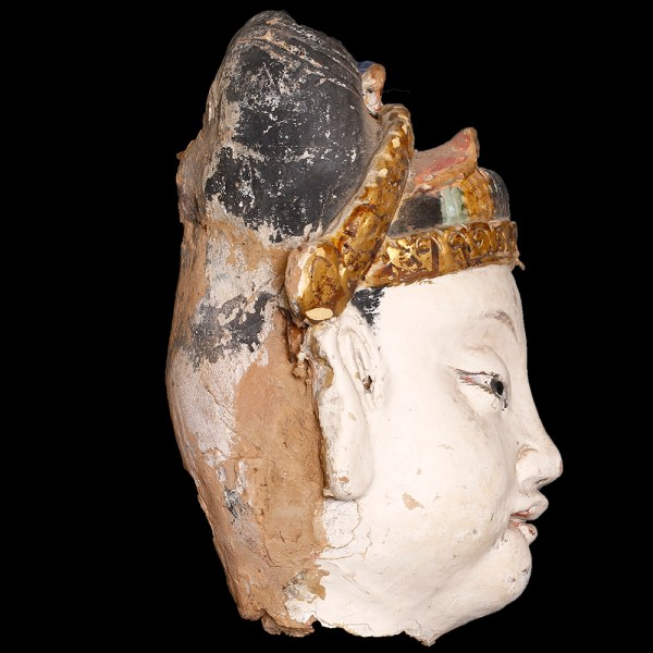 Ming Dynasty Head with Gilding