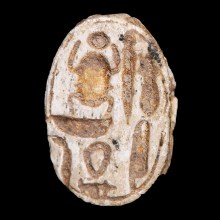 White Scarab with Hieroglyphs