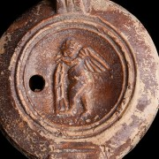 Roman Oil Lamp with Cupid and Hercules Club