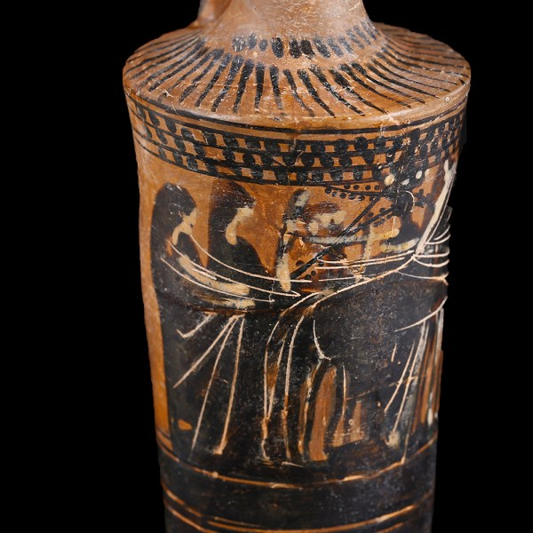 Greek Attic Lekythos Attributed to the Beldam Painter with Marriage Procession