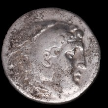 Alexander the Great Silver Tetradrachm with Zeus