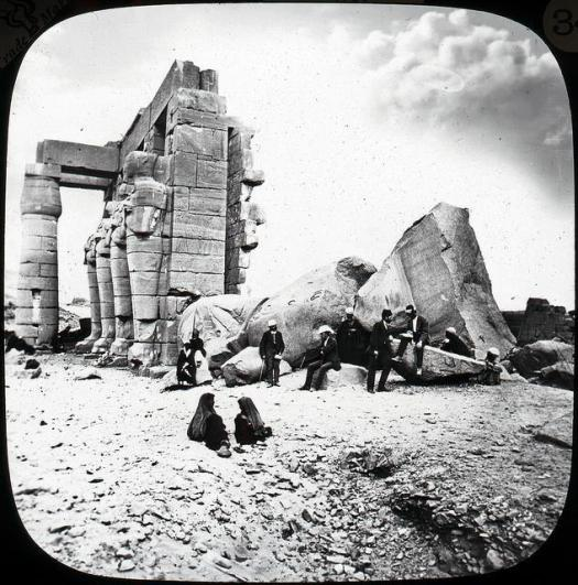 An old image of the Ramesseum.