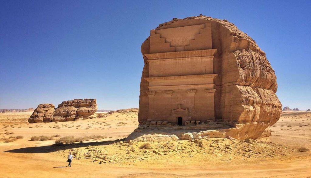 Qasr al Farid, tomb in Archeological site Mada'in Saleh, Al-`Ula, Saudi Arabia