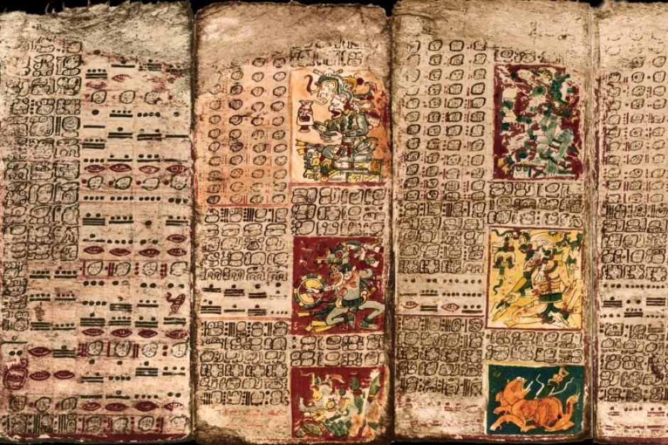 The Preface of the Venus Table of the Dresden Codex. Image Credit: UC Santa Barbara
