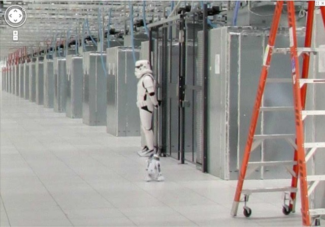 Google Data Center Storm Trooper And R2D2