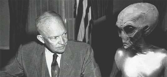 Risultati immagini per Eisenhower aliens encounter