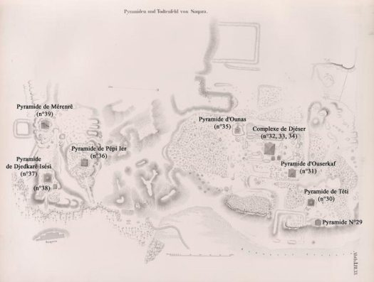 A map of the area where the Great Enclosure rests