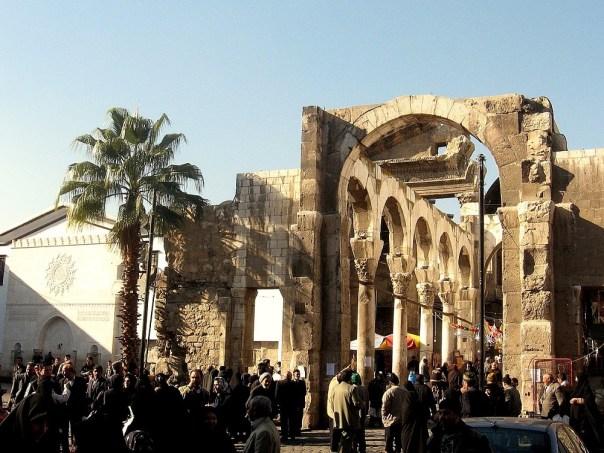 El templo de Júpiter en Damasco