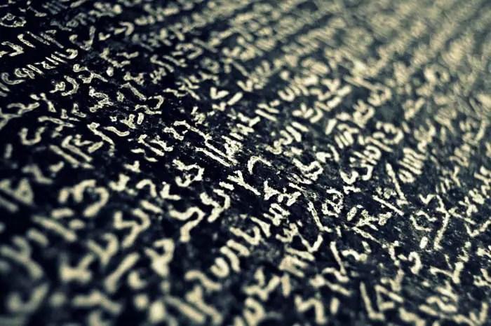 Writing on the Rosetta Stone