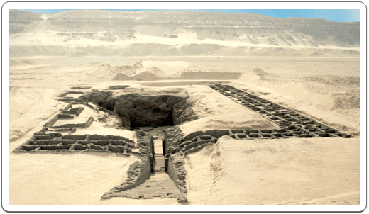 The tomb of Den at Umm el-Qa'ab was surrounded by 136 subsidiary tombs.