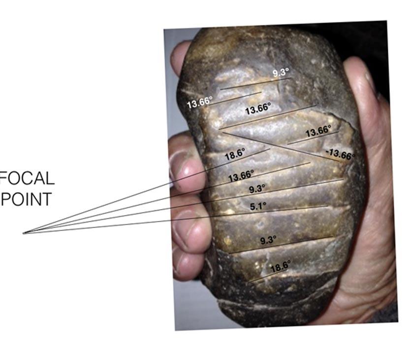 Alineaciones astronómicas de las líneas grabadas por los aborígenes en esta piedra descubierta en Australia.