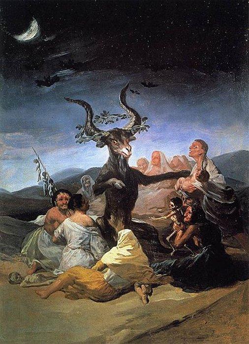 'El Aquelarre', Francisco de Goya. (Public Domain)