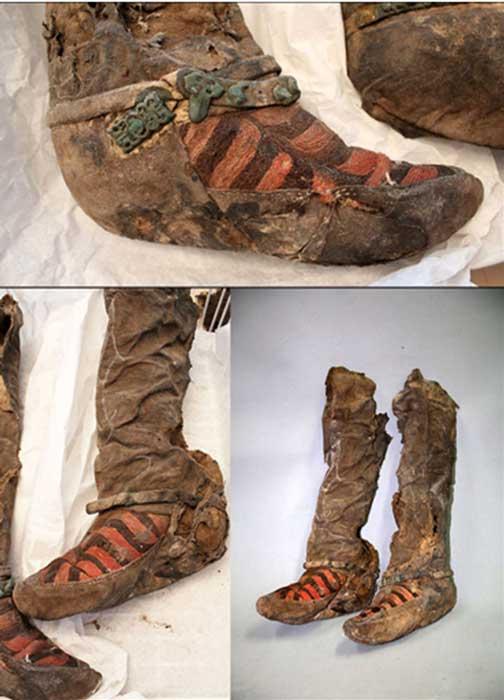 Los arqueólogos encontraron artículos del kit de belleza de la mujer - parte de un espejo y un peine – además de un cuchillo. Fotografías: The Mongolian Observer/Centro de Patrimonio Cultural de Mongolia
