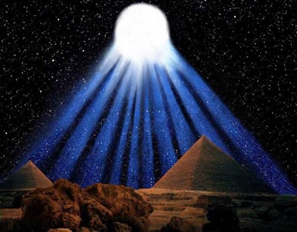 Recreación artística del espectacular cometa con diez colas observado por los antiguos egipcios en el 1486 a. C. (Ilustración de Graham Phillips)
