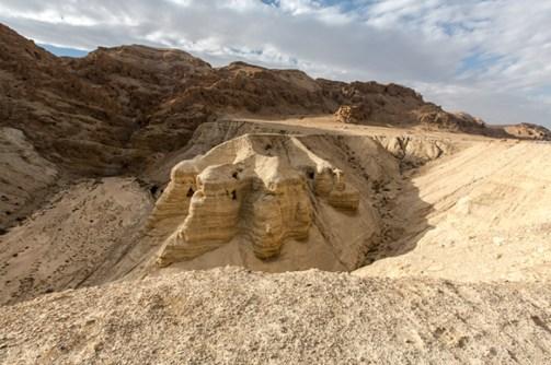 Cuevas del Desierto de Judea en las que fueron descubiertos los Manuscritos del Mar Muerto (CC 2.0)