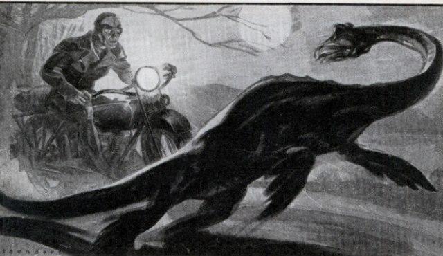 Monstruo del lago Ness, dibujo basado en las declaraciones de un testigo visual (Wikimedia)