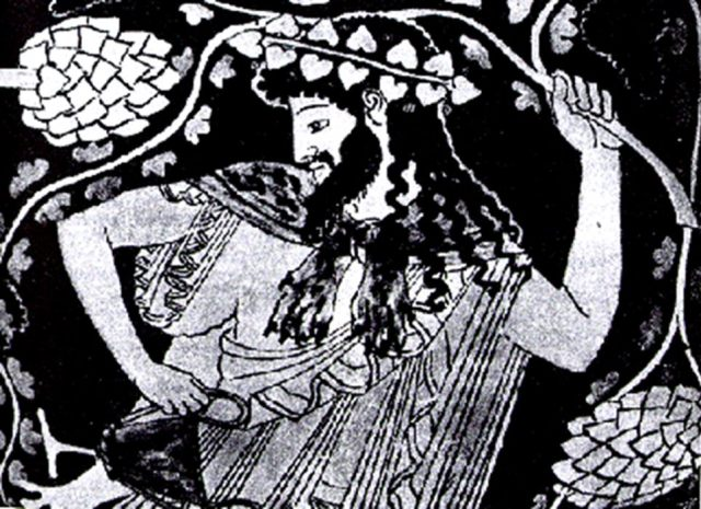 Dionisos representado como Hombre Verde (Public Domain)