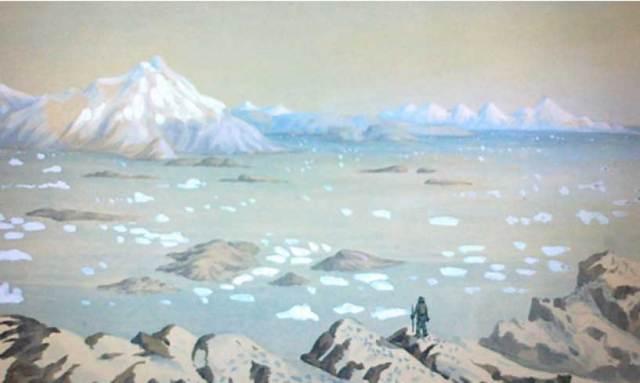 Explorador del Ártico, ilustración de Andreas Kornerup. (CC by SA 2.0)