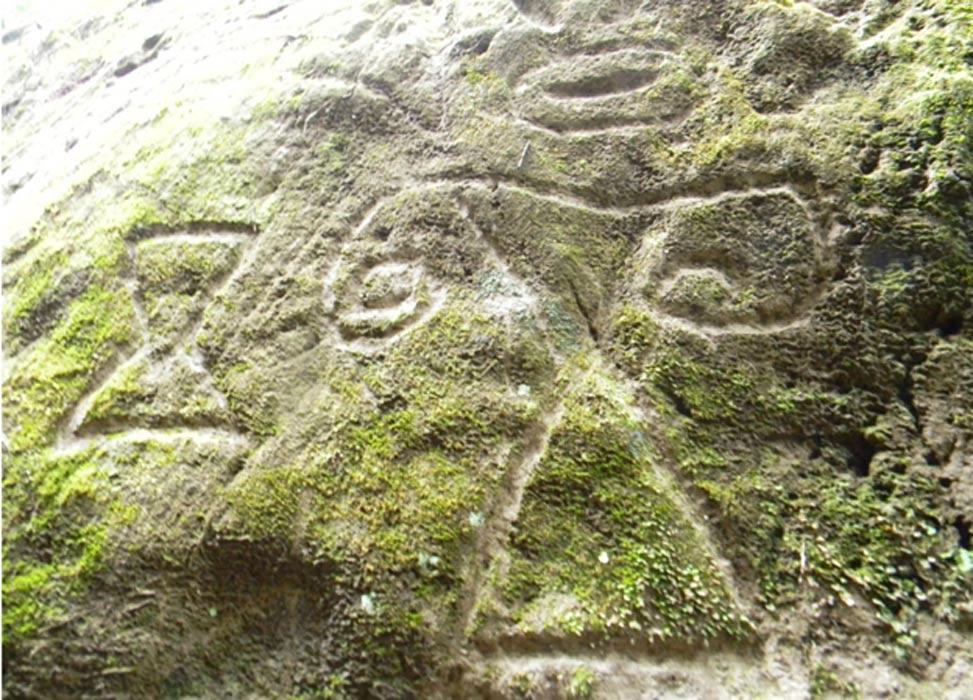 Algunos de los petroglifos presentan formas geométricas. Fotografía: Ravo R