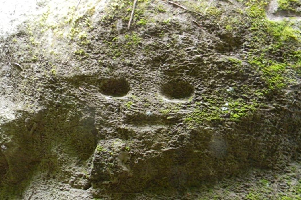 Uno de los grabados parece representar la figura de cierto tipo de criatura. Fotografía: Ravo R