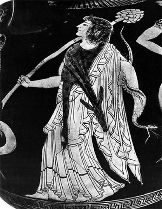 Joven Dionisos empuñando el Tirso. (Public Domain)