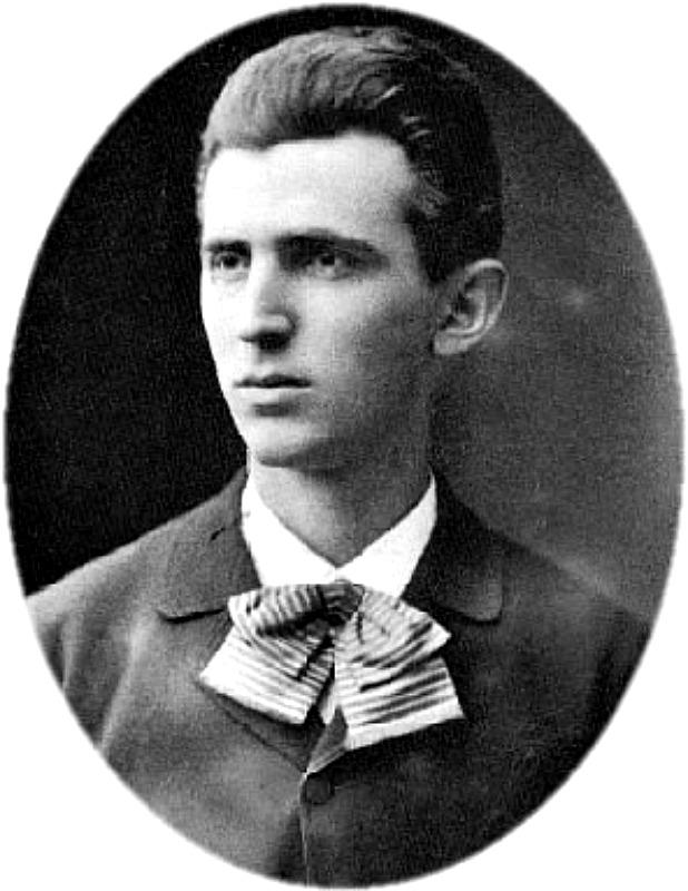 Retrato de Nikola Tesla a los 23 años de edad. (Dominio público)