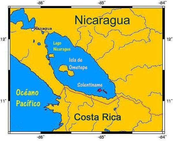 La disminución del nivel de las aguas del Lago Cocibolca o Gran Lago de Nicaragua debido a la sequía ha sacado a la luz nuevos petroglifos en la hermosa isla de Ometepe. (Public Domain)