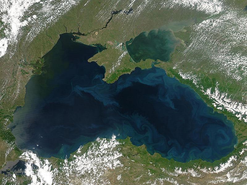 Fotografía vía satélite del Mar Negro. (Public Domain)