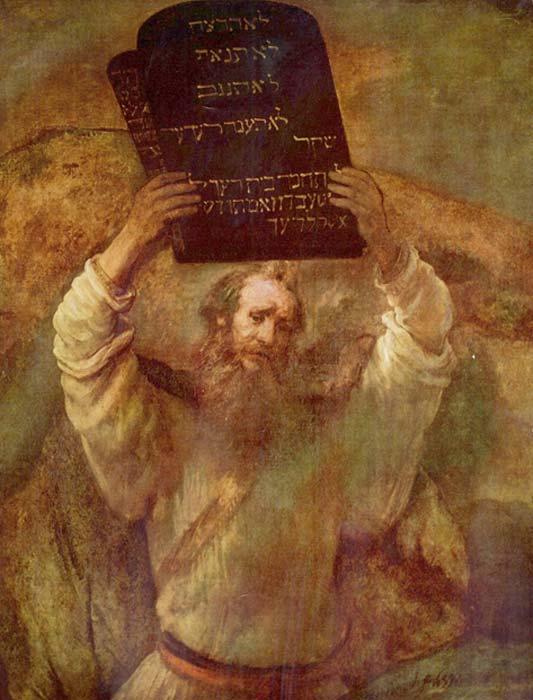 'Moisés con las tablas de la Ley' (1659), óleo de Rembrandt. (Public Domain)