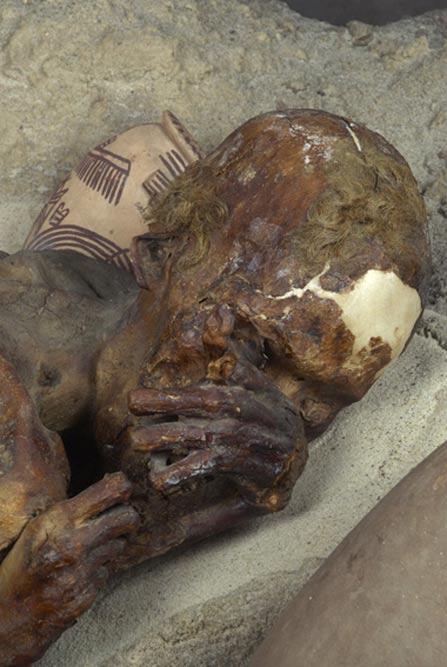 Detalle de la momia de 'El Pelirrojo'. (Museo Británico)