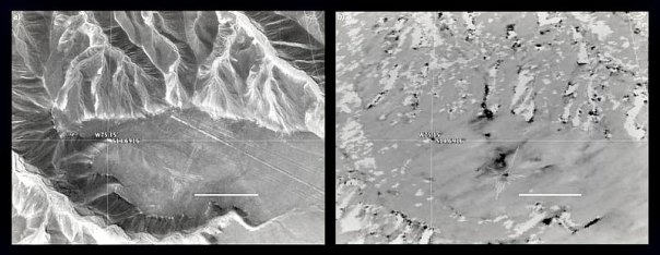 Otras dos de las imágenes de Nazca difundidas por la NASA. (Fotografías: NASA)