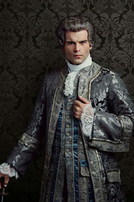 Conde St. Germain, personaje ficticio de la serie 'Outlander' libremente basado en la figura histórica. (CC BY SA)