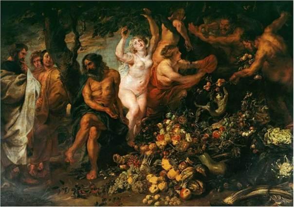 Pitágoras promovió el vegetarianismo. En la imagen, el óleo de Rubens y Snyders 'Pitágoras prohíbe comer animales y habas'. (Public Domain)