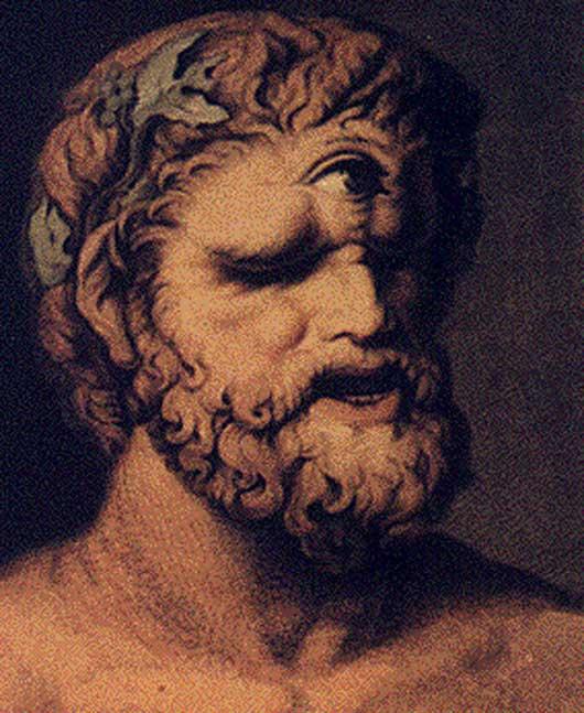 Polifemo, Johann Tischbein. (1802) (Public Domain) Polifemo es uno de los pocos cíclopes cuyo nombre conocemos.