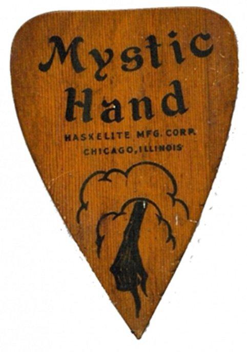 """Puntero para Ouija """"Mystic Hand"""". (Fair Use)"""