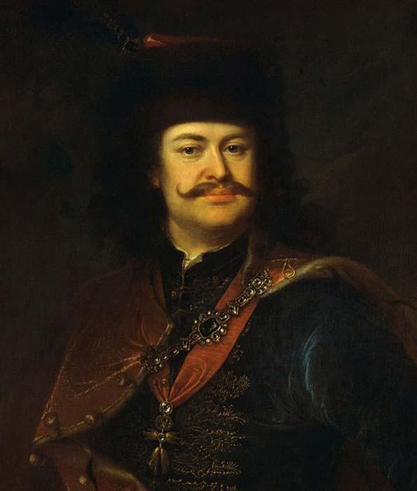 Retrato de Francisco II Rákóczi (pintado por Ádám Mányoki). (Dominio público) Algunos estudiosos creen que el Conde de St. Germain tenía su origen en la 'Casa Ragoczy'.
